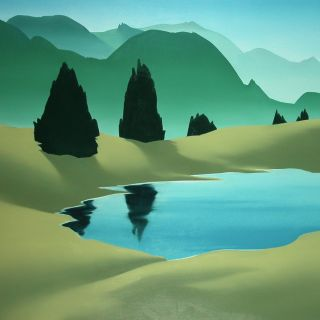 Berglandschaft 4, 2007, 130 x 150 cm