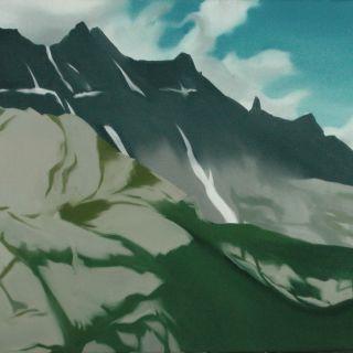 Berglandschaft 5, 2007, 130 x 150 cm