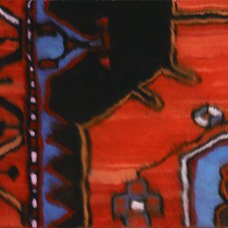 Teppich rot 10, 1999, 45 x 70 cm