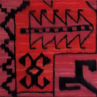 Teppich rot 7, 1998, 45 x 38 cm